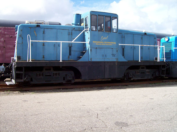 ex Electric Boat #16291 exx New Haven #0814, Class DEY-4. Arrived Danbury  6/26/06. Donated by Electric Boat Built in 1945 by GE for the New Haven  Railroad